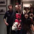 Johnny Hallyday et ses proches fêtent Noël à Los Angeles, décembre 2016.