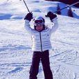 Pendant les fêtes de Noël, Jade et Joy, les enfants de Johnny et Laeticia Hallyday, ont pu faire du ski à Gstaadt, décembre 2013.