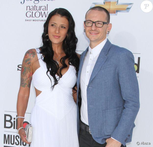 Chester Bennington et sa dernière épouse, Talinda, en mai 2012 à Las Vegas pour les Billboard Music Awards.
