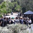Exclusif - Image des obsèques de Chester Bennington, chanteur de Linkin Park, à Palos Verdes en Californie le 29 juillet 2017, neuf jours après son suicide.
