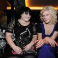 Beth Ditto en compagnie de la chanteuse Micky Green au défilé Sonia Rykiel le 8 mars 2009