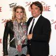 Bernard Tapie et sa fille Sophie - Avant-première de 'Salaud on t'aime' à l'UGC Normandie sur les Champs-Elysées à Paris le 31 mars 2014.