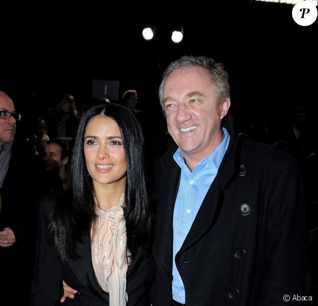 Salma Hayek et François Henri Pinault au défilé Stella McCartney ce lundi matin à Paris