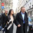 Salma Hayek et son époux François Henri Pinault au défilé Stella McCartney ce lundi matin à Paris
