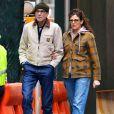 Exclusif - Daniel Day-Lewis et sa femme Rebecca Miller se baladent et font du shopping à New York le 3 janvier 2018.