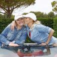 Exclusif - Adriana Karembeu et sa soeur Natalia Sklenarikova lors du 15 ème Rallye des Princesses sur le circuit du Castellet le 4 juin 2014