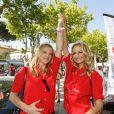Adriana Karembeu et sa soeur Natalia Sklenarikova - Arrivée du 15ème Rallye des Princesses à Saint-Tropez le 5 juin 2014.