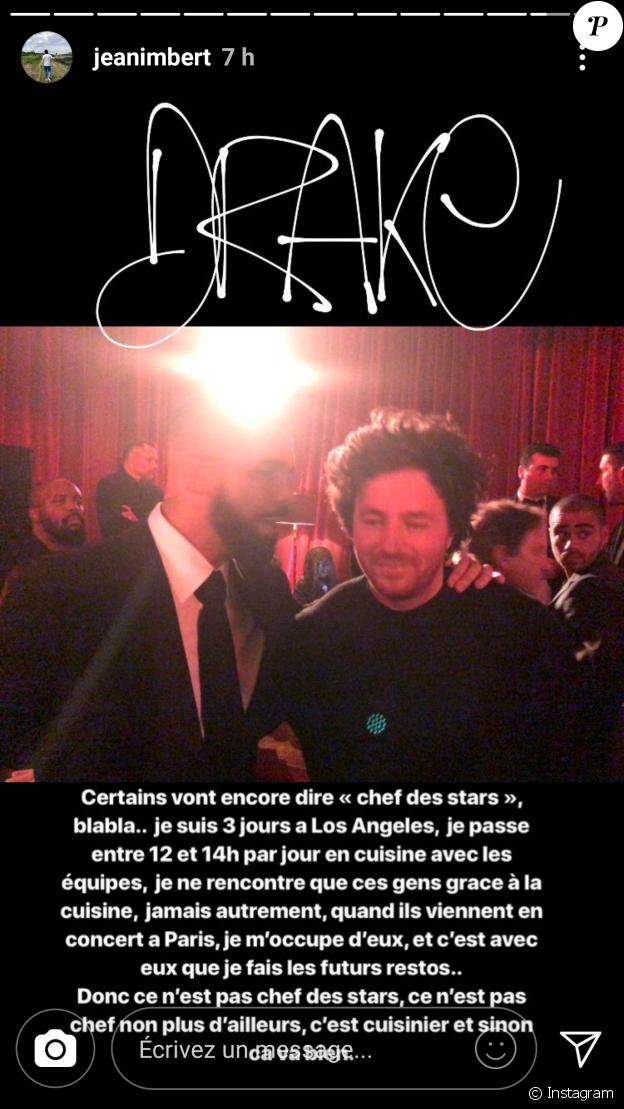 Coup de gueule de Jean Imbert sur Instagram le 7 janvier 2018.