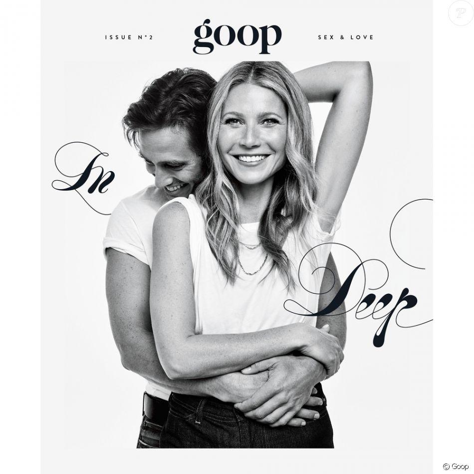 """Brad Falchuk et Gwyneth Paltrow ont confirmé leurs fiançailles le 8 janvier 2018 en couverture de l'édition numéro 2 de """"Goop""""."""