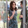 """Catherine Kate Middleton (enceinte), duchesse de Cambridge, visite l'école """"Reach Academy"""" à Feltham le 10 janvier 2018."""