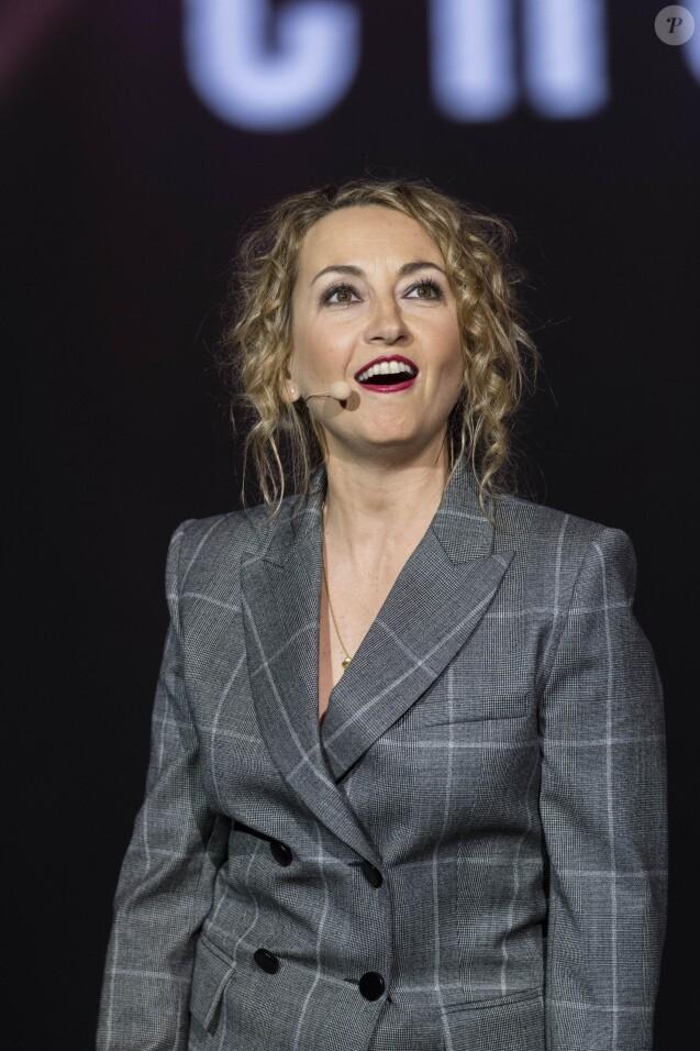 Exclusif - Christelle Chollet - Michel Leeb fête ses 40 ans de carrière sur la scène du théâtre André Malraux à Rueil-Malmaison le 24 octobre 2017. © Pierre Perusseau/Bestimage