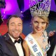 Bernard Montiel, Miss Mayotte et Charlotte Depaepe Miss Flandre - Miss Prestige National, 13 janvier 2018, Saint-Etienne