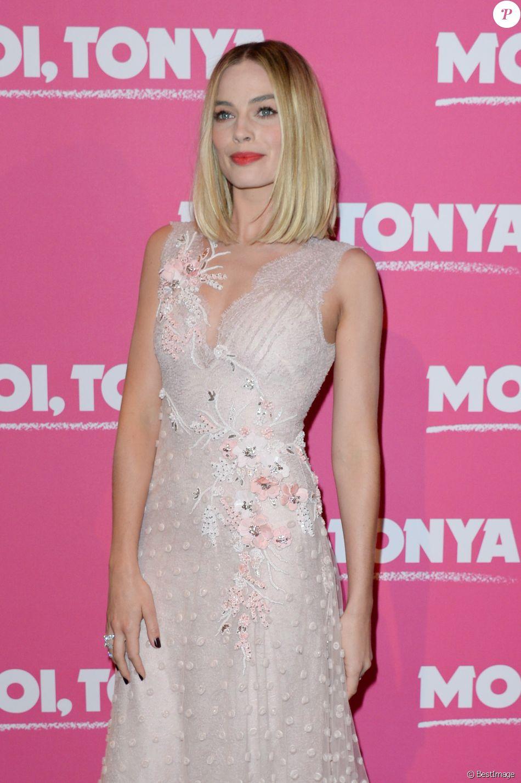 """Margot Robbie - Avant-première du film """"Moi, Tonya"""" au cinéma l'UGC Normandie à Paris le 15 janvier 2018. © Coadic Guirec/Bestimage"""