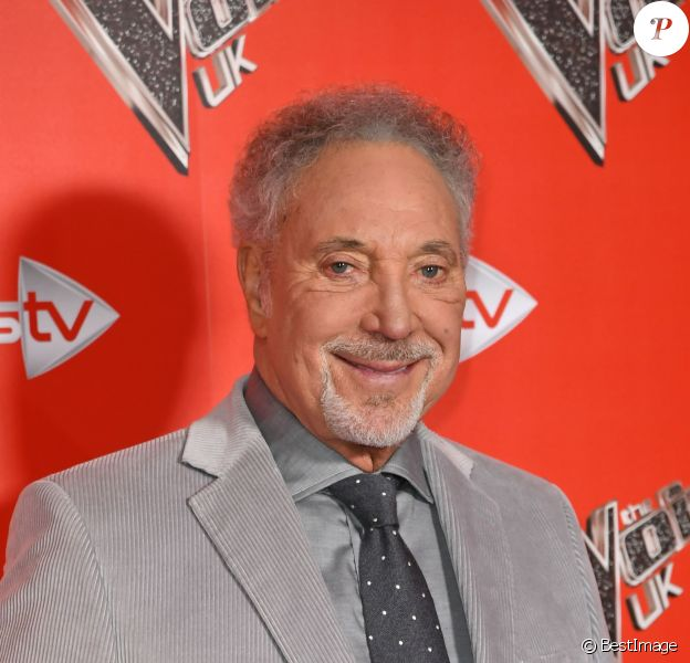 Tom Jones lors du photocall de l'émission The Voice à l'hôtel Ham Yard à Londres le 3 janvier 2018.