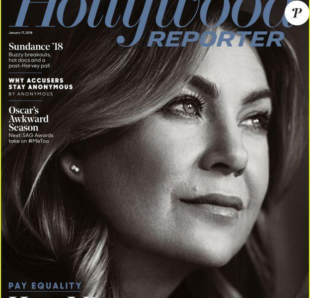 Ellen Pompeo en couverture de The Hollywood Reporter.
