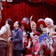 La princesse Stéphanie de Monaco et les artistes lors du photocall de présentation du 42ème Festival International du Cirque de Monte-Carlo sous le chapiteau de Fontvieille le 16 janvier 2018. © Claudia Albuquerque / Bestimage
