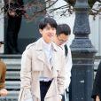 Liu Haoran - Sorties du défilé de mode Louis Vuitton homme automne-hiver 2018-2019 au Palais Royal à Paris. Le 18 janvier 2018 © CVS - Veeren / Bestimage