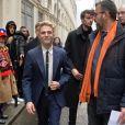 Xavier Dolan - Sorties du défilé de mode Louis Vuitton homme automne-hiver 2018-2019 au Palais Royal à Paris. Le 18 janvier 2018 © CVS - Veeren / Bestimage