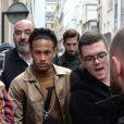 Neymar Jr - Arrivées du défilé de mode Louis Vuitton homme automne-hiver 2018-2019 au Palais Royal à Paris. Le 18 janvier 2018 © CVS - Veeren / Bestimage