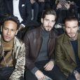 Neymar Jr, Kevin Trapp et David Beckham au premier rang du défilé de mode Louis Vuitton homme automne-hiver 2018-2019 au Palais Royal à Paris. Le 18 janvier 2018 © Olivier Borde / Bestimage