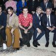 David et Victoria Beckham avec leur fils Brooklyn, Xavier Dolan, Michael Burke et sa femme au premier rang du défilé de mode Louis Vuitton homme automne-hiver 2018-2019 au Palais Royal à Paris. Le 18 janvier 2018 © Olivier Borde / Bestimage