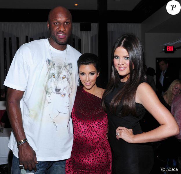 Lamar Odom, Kim et Khloé Kardashian aà Los Angeles le 21 octobre 2009