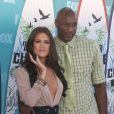 Khloé Kardashian et Lamar Odom aux Teen Choice Awards à Los Angeles en août 2010
