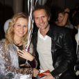 Julie Jardon et son nouveau compagnon Nicolas Mereau - Célébrités lors du défilé Maison Anoufa lors de la Fashion Week de Paris, France, le 21 janvier 2018. © Philippe Baldini/Bestimage