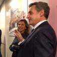 Nicolas Sarkozy chez L'équipe, le 22 janvier 2018.