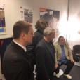 """Nicolas Sarkozy chez """"L'équipe du soir"""", le 22 janvier 2018."""