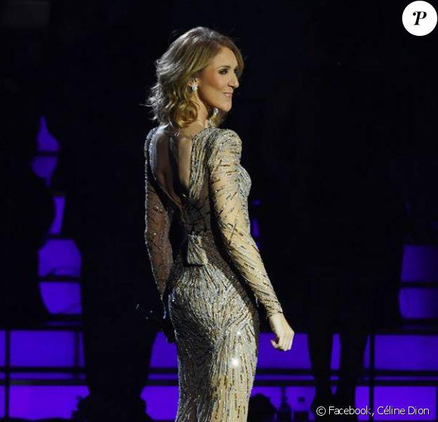 Céline Dion sur la scène du Caesars Palace à Las Vegas. Décembre 2017.