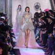 """Défilé de mode """"Elie Saab"""", collection Haute-Couture printemps-été 2018, au Pavillon Cambon Capucines. Paris, le 24 janvier 2018"""