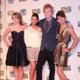 "Bridgit Mendler, Naomi Scott, Adam Hicks et Hayley Kiyoko (""Lemonade Mouth"") à Londres. Août 2011."