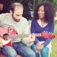 Nadège Beausson-Diagne et son chéri le musicien Geoffroy Jeff Tekeyan, heureux et amoureux.