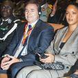 Rihanna lors de la conférence de financement du Partenariat mondial pour l'éducation (PME) organisée à Dakar, Sénégal, le 2 février 2018.