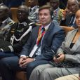 """Barbadian singer Rihanna attends the conference """"GPE Financing Conference, an Investment in the Future"""" organised by the Global Partnership for Education in Dakar on February 2, 2018, as part of Macron's visit to Senegal. The French and Senegales presidents are co-hosting a conference organised by the Global Partnership for Education, aimed at pressuring donors to finance the education of a quarter of a billion children worldwide who are currently out of school, while Rihanna is attending as a global ambassador for the organisation. Photo by Eliot Blondet/ABACAPRESS.COM02/02/2018 -"""