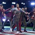 Justin Timberlake assure le show de la mi-temps lors du Super Bowl à Minneapolis, le 1 février 2018.