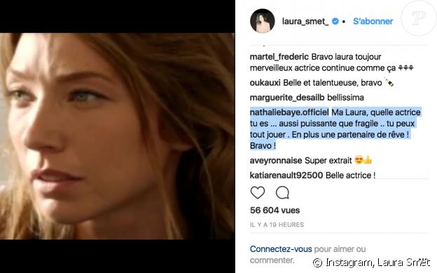 Laura Smet félicitée pour sa nomination par sa mère, Nathalie Baye, sur Insagram le 5 février 2018.