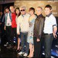 """Toute l'équipe du film, lors de la présentation des """"Etreintes brisées"""", le nouveau film de Pedro Almodovar, le 16 mars 2009, à Barcelone."""
