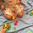 Sylvie Tellier auprès de sa fille Margaux hospitalisée. Dimanche 4 février 2018.