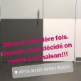 Sylvie Tellier à l'hôpital Necker au côté de sa petite Margaux, le 9 février 2018. Retour au bloc !