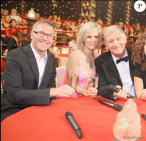 Laurent Ruquier, Lorie, Linda Hardy et Patrick Sébastien au Plus grand cabaret du monde, en 2008