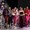 Gigi Hadid défile pour Prabal Gurung à la Fashion Week de New York. Le 11 février 2018.