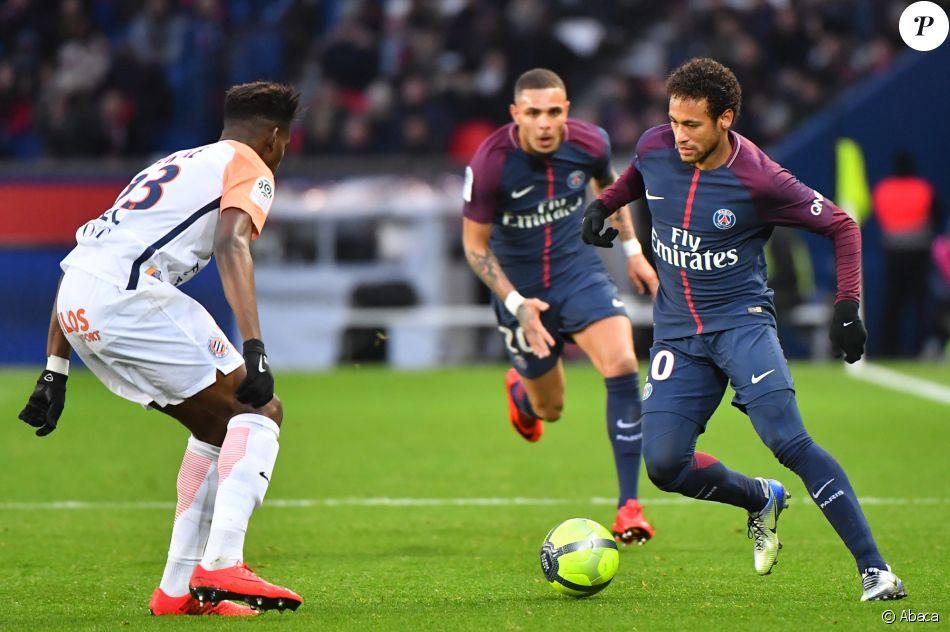 Neymar Jr. lors du match PSG - Montpellier à Paris, le 27 ...