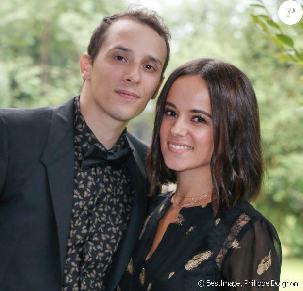Exclusif - Alizée et son mari Grégoire Lyonnet - Mariage de Katrina Patchett et Valentin D'Hoore en Belgique le 1er septembre 2017. ©