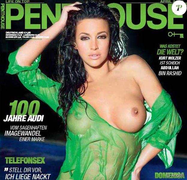 Sophia Cahill, en couverture de l'édition allemande du magazine Penthouse d'avril 2009.