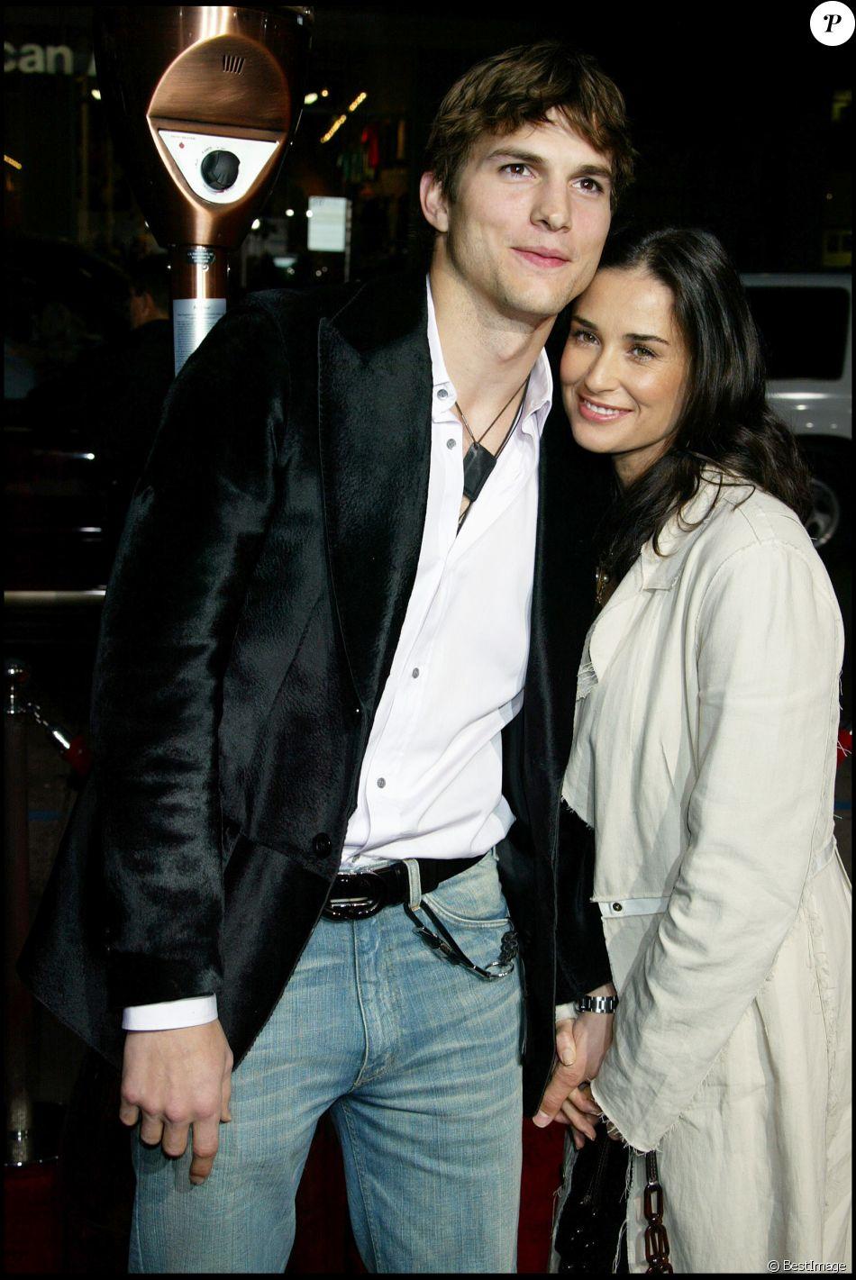 """Ashton Kutcher et Demi Moore à la première du film """"Guess Who"""" à Los Angeles le 13 mars 2005"""