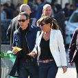 Alain Chamfort et sa femme à l'enterrement d'Alain Bashung
