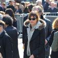 Alexandra Kazan à l'enterrement d'Alain Bashung
