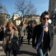 Mélanie Thierry et Raphael à l'enterrement d'Alain Bashung